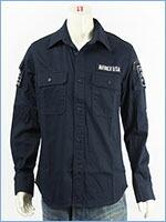 アビレックス ファティーグ カーキシャツ AVIREX L/S FATIGUE KHAKI SHIRT 6175140-87