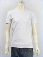 アビレックス デイリー 半袖 Vネック Tシャツ リブ AVIREX DAILY S/S V NECK T-SHIRT RIB 6143501-01, 617351-01