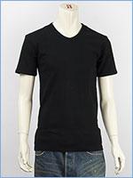 アビレックス デイリー 半袖 Vネック Tシャツ リブ AVIREX DAILY S/S V NECK T-SHIRT RIB 6143501-09, 617351-09