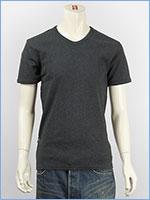 アビレックス デイリー 半袖 Vネック Tシャツ リブ AVIREX DAILY S/S V NECK T-SHIRT RIB 6143501-19, 617351-19
