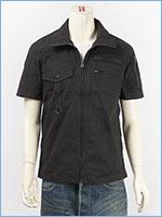 アビレックス ツートン カモ ミリタリーシャツ フルジップ AVIREX S/S FULL ZIP MIL. SHIRT IN TWO TONE CAMO 6185093-09