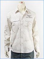 アビレックス ツートン カモ ミリタリーシャツ AVIREX L/S MIL. SHIRT IN TWO TONE CAMO 6185094-01