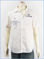 アビレックス タイプブルー デニム ワークシャツ ミリタリー AVIREX S/S TYPE BLUE DENIM WORK SHIRT 6185099-01