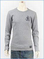 AVIREX アビレックス 長袖 Tシャツ クルーネック リブ L/S RIB CREW NECK TEE X-15 6183519-16