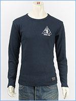 AVIREX アビレックス 長袖 Tシャツ クルーネック リブ L/S RIB CREW NECK TEE X-15 6183519-87