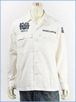 アビレックス 刺繍 ユーティリティーシャツ AVIREX LS EMBROIDERY UTILITY SHIRT DIVERS 6195104-02