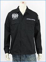 アビレックス 刺繍 ユーティリティーシャツ AVIREX LS EMBROIDERY UTILITY SHIRT DIVERS 6195104-09