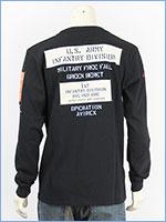 アビレックス 長袖 Tシャツ シーチング パッチ AVIREX LS SHEETING PATCHED T-SHIRT 6193468-09
