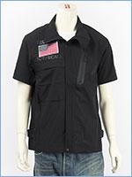 アビレックス ストレッチ ジップシャツ フロッグマン AVIREX SS STRETCH ZIP SHIRT FROGMAN 6195096-09