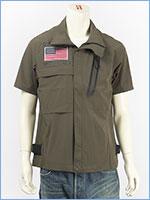 アビレックス ストレッチ ジップシャツ フロッグマン AVIREX SS STRETCH ZIP SHIRT FROGMAN 6195096-75