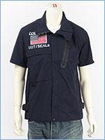 アビレックス ストレッチ ジップシャツ フロッグマン AVIREX SS STRETCH ZIP SHIRT FROGMAN 6195096-87