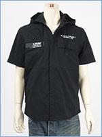 アビレックス フード ジップ シャツ ストレッチ AVIREX SS STRETCH HOOD ZIP SHIRT 6105092-09