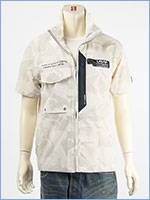 アビレックス スタンド ジップ シャツ ストレッチ AVIREX SS STRETCH STAND ZIP SHIRT 6105093-801