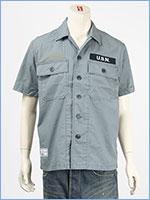 アビレックス タイプブルー ワークシャツ ステンシルプリント AVIREX TYPE BLUE SS WORK SHIRT SSN-571 6105099-84