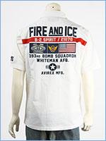 アビレックス パッチド ミリタリーシャツ AVIREX SS PATCHED MILITARY SHIRT FIRE AND ICE 6105100-01