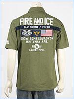 アビレックス パッチド ミリタリーシャツ AVIREX SS PATCHED MILITARY SHIRT FIRE AND ICE 6105100-73