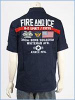 アビレックス パッチド ミリタリーシャツ AVIREX SS PATCHED MILITARY SHIRT FIRE AND ICE 6105100-87