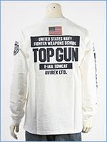 アビレックス 長袖 Tシャツ トップガン AVIREX LS TOP GUN T-SHIRT 6103520-02
