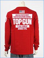 アビレックス 長袖 Tシャツ トップガン AVIREX LS TOP GUN T-SHIRT 6103520-34