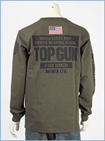 アビレックス 長袖 Tシャツ トップガン AVIREX LS TOP GUN T-SHIRT 6103520-75