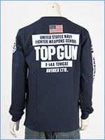 アビレックス 長袖 Tシャツ トップガン AVIREX LS TOP GUN T-SHIRT 6103520-87