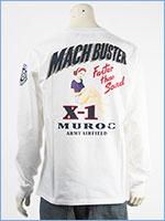 アビレックス 長袖 Tシャツ マッハバスター AVIREX LS MACH BUSTER T-SHIRT 6103522-02