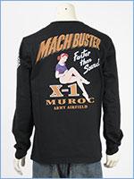アビレックス 長袖 Tシャツ マッハバスター AVIREX LS MACH BUSTER T-SHIRT 6103522-09