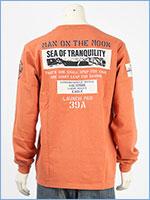 アビレックス 長袖 Tシャツ ムーンランディング パッチ AVIREX LS MOON LANDING PATCH T-SHIRT 6103530-44