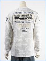 アビレックス 長袖 Tシャツ ムーンランディング パッチ AVIREX LS MOON LANDING PATCH T-SHIRT 6103530-801