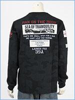アビレックス 長袖 Tシャツ ムーンランディング パッチ AVIREX LS MOON LANDING PATCH T-SHIRT 6103530-809