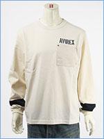 アビレックス タイプブルー 長袖 Tシャツ ベイクルー AVIREX TYPE BLUE LS BAY CREW T-SHIRT 6103551-05