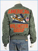 アビレックス フライングタイガース MA-1 ジャケット AVIREX MA-1 AMERICAN VOLUNTEER GROUP 6102173-73