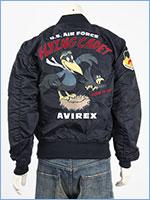 アビレックス ライト MA-1 ジャケット フライングカデット AVIREX LIGHT MA-1 FLYING CADET 6112104-86