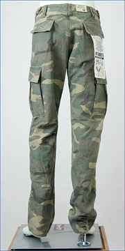 AVIREX 6166038-98 (アビレックス・BACKSATIN FATIGUE PANTS)