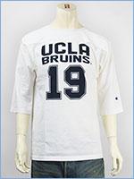 チャンピオン メイドインUSA T1011 7分袖 UCLA プリント フットボールTシャツ Champion MADE IN USA T1011 3/4 SLEEVE FOOTBALL T-SHIRT UCLA C5-G404-010