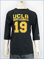 チャンピオン メイドインUSA T1011 7分袖 UCLA プリント フットボールTシャツ Champion MADE IN USA T1011 3/4 SLEEVE FOOTBALL T-SHIRT UCLA C5-G404-370