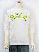 チャンピオン メイドインUSA T1011 7分袖 UCLA プリント フットボールTシャツ Champion MADE IN USA T1011 3/4 SLEEVE FOOTBALL T-SHIRT UCLA C5-J404-010