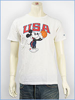Champion x Disney チャンピオン ミッキーマウス 半袖 プリントTシャツ Champion ROCHESTER T-SHIRT MICKEY MOUSE C9-H306-020