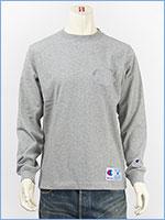 チャンピオン 長袖 Tシャツ ビッグロゴ 刺繍 アクションスタイル Champion ACTION STYLE LONG SLEEVE T-SHIRT C3-L422-070