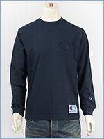 チャンピオン 長袖 Tシャツ ビッグロゴ 刺繍 アクションスタイル Champion ACTION STYLE LONG SLEEVE T-SHIRT C3-L422-370