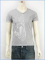 d-fy ディーエフワイ 半袖 ラメプリント VネックTシャツ d-fy S/S V-NECK TEE LAME PRINT d-8104-gry