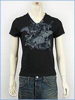 d-fy ディーエフワイ 半袖 シルバープリント VネックTシャツ d-fy S/S V-NECK TEE SILVER PRINT d-8108-blk