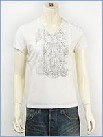 d-fy ディーエフワイ 半袖 シルバープリント VネックTシャツ d-fy S/S V-NECK TEE SILVER PRINT d-8109-ivr