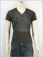 d-fy ディーエフワイ 半袖 シルバープリント VネックTシャツ d-fy S/S V-NECK TEE SILVER PRINT d-8109-khk
