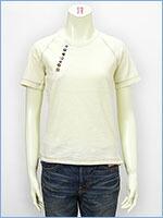空 半袖 変形ヘンリーネック レディース Tシャツ KU USA S/S LADIES TEE SHIRT 517378-05