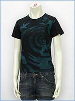 プリント レディース Tシャツ 金魚 KU USA S/S PRINT LADIES TEE SHIRT 527316-09w