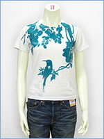 プリント レディース Tシャツ 鳥 KU USA S/S PRINT LADIES TEE SHIRT 527317-01w