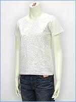 空 半袖 プリント レディース Tシャツ 鯉 KU USA S/S PRINT LADIES TEE SHIRT 527334-09
