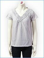 空 半袖 Vネック レディース Tシャツ KU USA S/S LADIES TEE SHIRT 528301-11