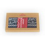 リーバイス バンダナ 3パック(3枚組) ネイビー×レッド×ブラック Levi's Accessories Bandana 77138-0872